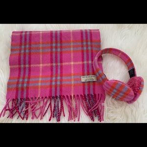 Burberry cashmere scarf and earmuffs set